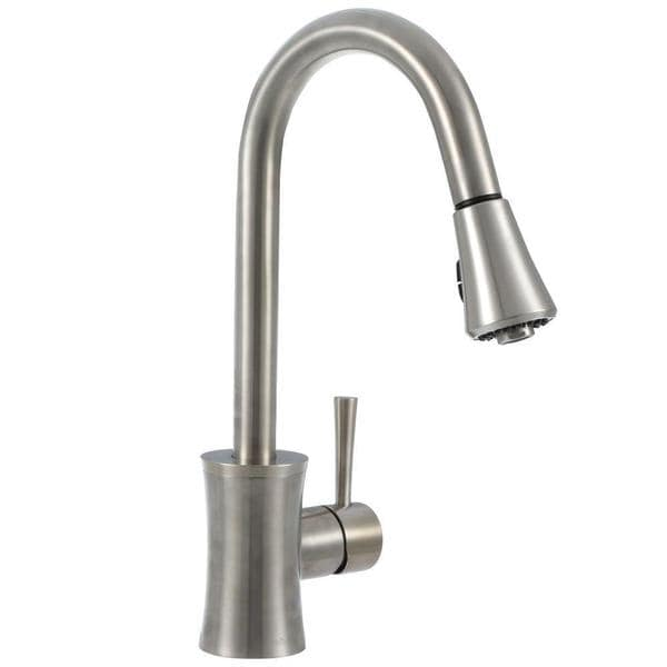 Pegasus Luca Single Handle Pull Down Sprayer Kitchen Faucet In Brushed Nickel Free Shipping Today 10791425
