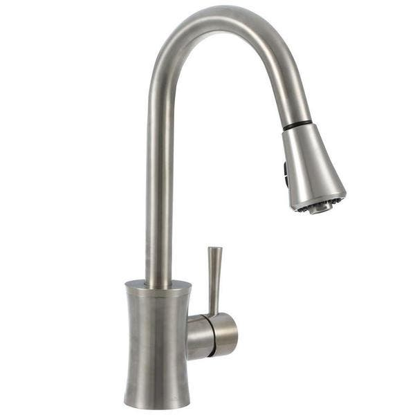 Pegasus Luca Single Handle Pull Down Sprayer Kitchen Faucet In Brushed Nickel Overstock 10791425