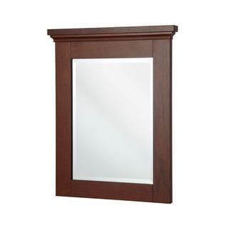 Manchester 32 inch x 29 inch Wall Mirror in Mahogany