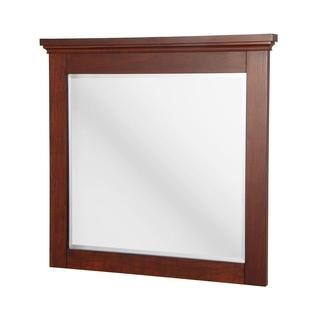 Manchester 36 inch x 34 inch Wall Mirror in Mahogany