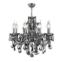 "Maria Theresa 6 Light Chrome Finish and Chrome Crystal Glam Chandelier Medium 20"" x 20"""