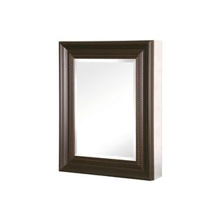 Pegasus 20-inch x 26-inch Mirrored Recessed or Surface Mount Medicine Cabinet with Framed Door in Oil Rubbed Bronze