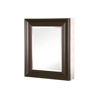 Pegasus 24-inch x 30-inch Recessed or Surface Mount Mirrored Medicine Cabinet with Deco Framed Door in Oil Rubbed Bronze