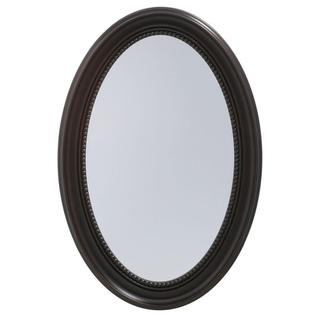 Pegasus 20-inch x 30-inch Recessed or Surface Mount Mirrored Medicine Cabinet with Oval Deco Framed Door in Oil Rubbed Bronze