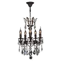 Italian Elegance 5 Light Flemish Brass Finish with Clear Crystal Chandelier