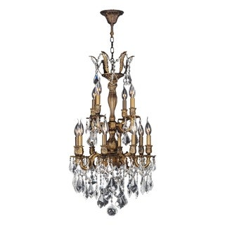 French Imperial Collection 12 Light Antique Bronze Finish and Clear Crystal Traditional Chandelier M