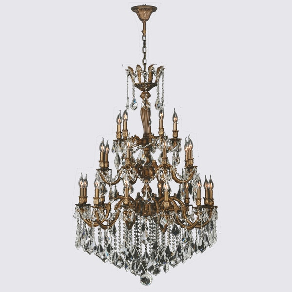 French Imperial Collection 25 Light French Gold and Clear Crystal – Traditional Chandelier