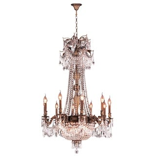 "Regal Estate Collection 15 Light Antique Bronze Finish and Clear Crystal Traditional Chandelier Large 30"" x 47"""