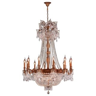 Regal Estate Collection 18 Light French Gold Finish and Clear Crystal Traditional Chandelier Large 3