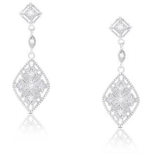 Samantha Stone Sterling Silver Cubic Zirconia Dangling Earrings