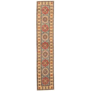 Herat Oriental Afghan Hand-knotted Tribal Kazak Wool Runner (2' x 10'2)