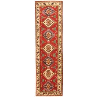 Handmade Kazak Wool Runner (Afghanistan) - 2'8 x 9'5