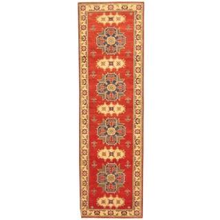 Herat Oriental Afghan Hand-knotted Tribal Kazak Wool Runner (3' x 10')