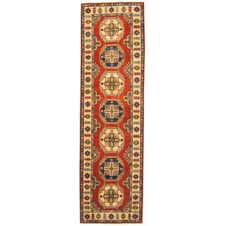 Herat Oriental Afghan Hand-knotted Tribal Kazak Wool Runner (2'9 x 9'8)