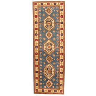 Herat Oriental Afghan Hand-knotted Tribal Kazak Wool Runner (2'9 x 7'10)