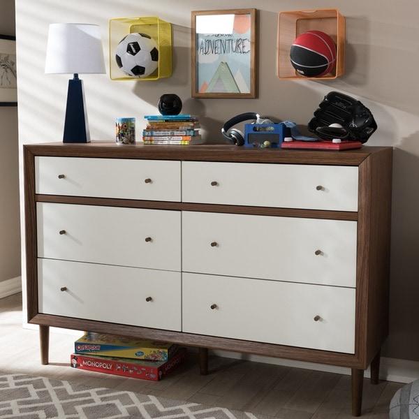 Modern Style Dresser: Baxton Studio Harlow Mid-century Modern Scandinavian Style