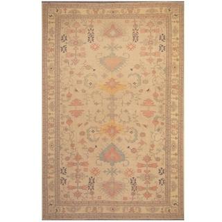 Herat Oriental Afghan Hand-woven Vegetable Dye Oushak Wool Rug (8'3 x 13'2)