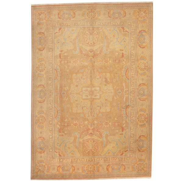 Herat Oriental Afghan Hand-knotted Vegetable Dye Oushak Wool Rug (8'3 x 12')