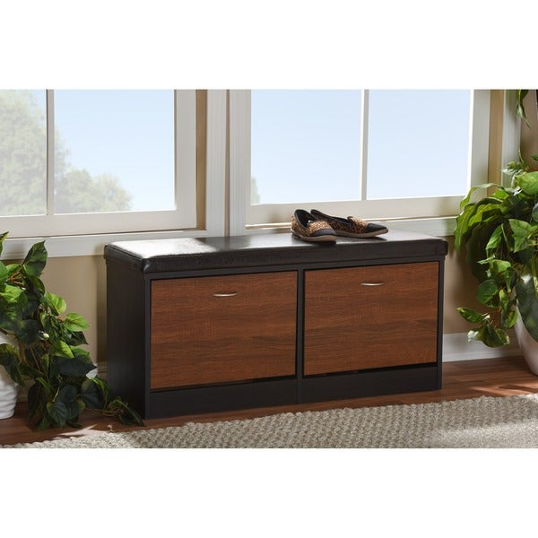 Modern Foyer Storage : Shop baxton studio foley modern contemporary tone dark