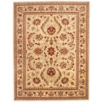 Herat Oriental Afghan Hand-knotted Vegetable Dye Oushak Wool Rug (9' x 11'8) - 9' x 11'8