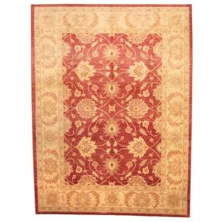 Herat Oriental Afghan Hand-knotted Vegetable Dye Oushak Wool Rug (8'4 x 11'2)