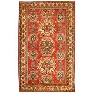 Herat Oriental Afghan Hand-knotted Tribal Kazak Wool Rug (8'1 x 12'8) - 8'1 x 12'8