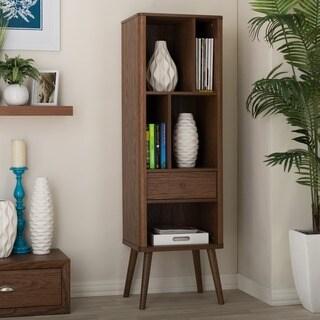 baxton studio ellingham midcentury retro modern 1drawer sideboard storage cabinet bookcase organizer