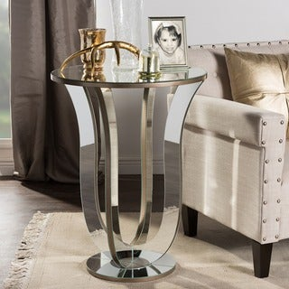 Baxton Studio Kylie Modern Hollywood Regency Glamour Style Mirrored Accent Side Table
