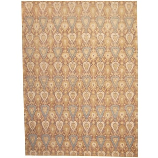 Herat Oriental Afghan Hand-knotted Vegetable Dye Ikat Wool Rug (8'10 x 11'10)