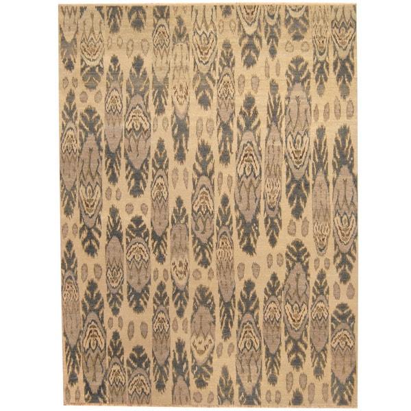 Handmade Herat Oriental Afghan Vegetable Dye Ikat Wool Rug (Afghanistan) - 8'10 x 11'10