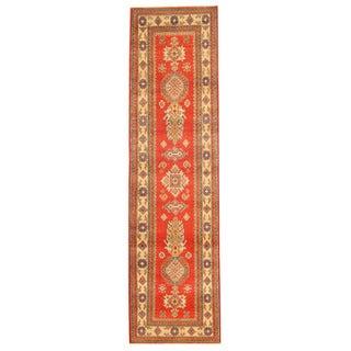 Herat Oriental Afghan Hand-knotted Tribal Kazak Wool Runner (2'7 x 9'10)