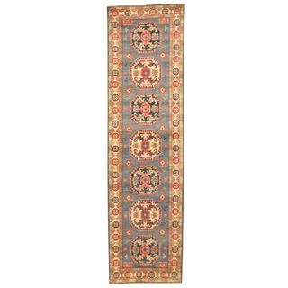 Herat Oriental Afghan Hand-knotted Tribal Kazak Wool Runner (2'8 x 9'7)