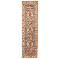 Handmade Herat Oriental Afghan Tribal Kazak Wool Runner (Afghanistan) - 2'8 x 9'7