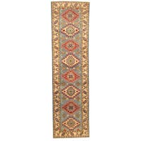 Herat Oriental Afghan Hand-knotted Tribal Kazak Wool Runner (2'7 x 9'7)