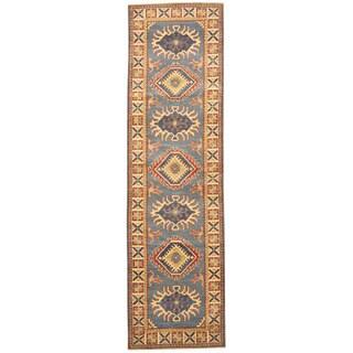 Herat Oriental Afghan Hand-knotted Tribal Kazak Wool Runner (2'8 x 9'6)