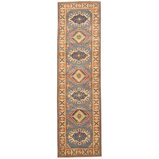 Handmade Herat Oriental Afghan Tribal Kazak Wool Runner (Afghanistan) - 2'8 x 9'6