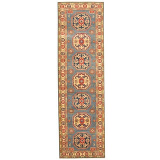 Herat Oriental Afghan Hand-knotted Tribal Kazak Wool Runner (2'10 x 9'5)