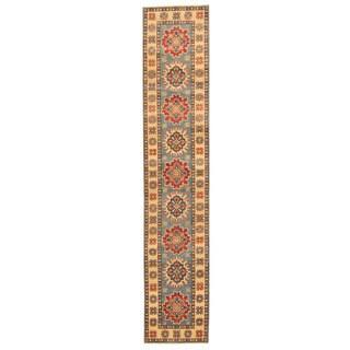 Herat Oriental Afghan Hand-knotted Tribal Kazak Wool Runenr (2' x 10'2)