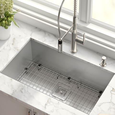 Kraus KHU32 Pax Undermount 31-1/2 inch Stainless Steel Kitchen Sink
