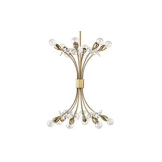 Clearance Hudson Valley Alexandria 12 Light Aged Br Chandelier
