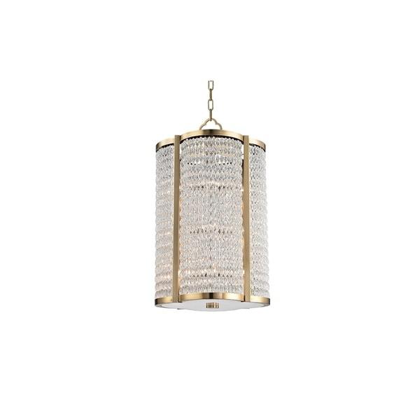 Hudson Valley Ballston 12 Light Aged Brass Pendant