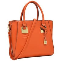 Dasein Faux Leather Side Zipper Satchel Handbag