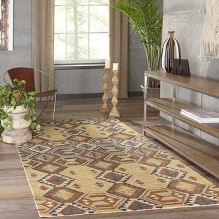 Morocco Hand Knotted Diamond Design Natural Geometric Rug