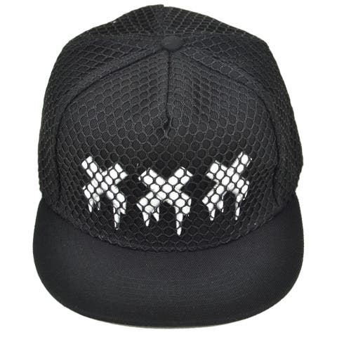 Mesh xxx Snapback Baseball Hat Cap with 3D Embroidery