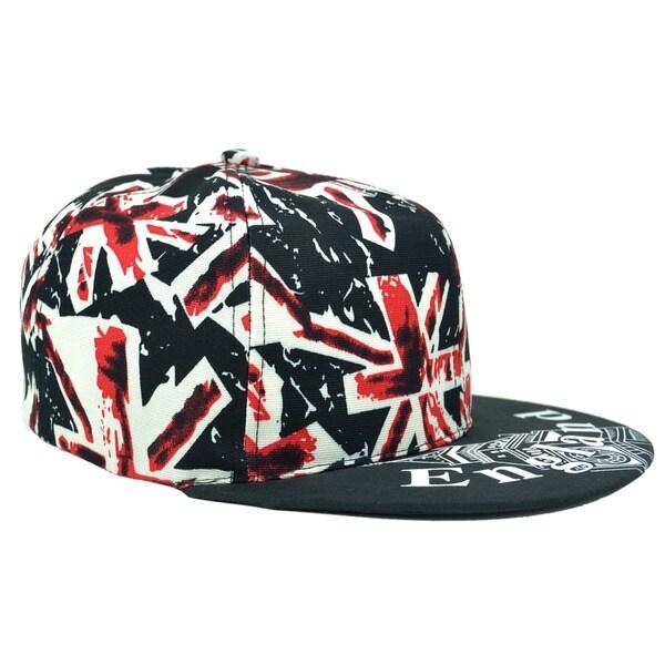 England Snapback Hat with Union Jack Design Print