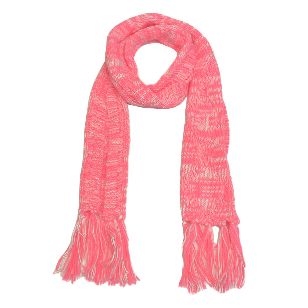 Bright Neon Cable Knit Scarf. Opens flyout.