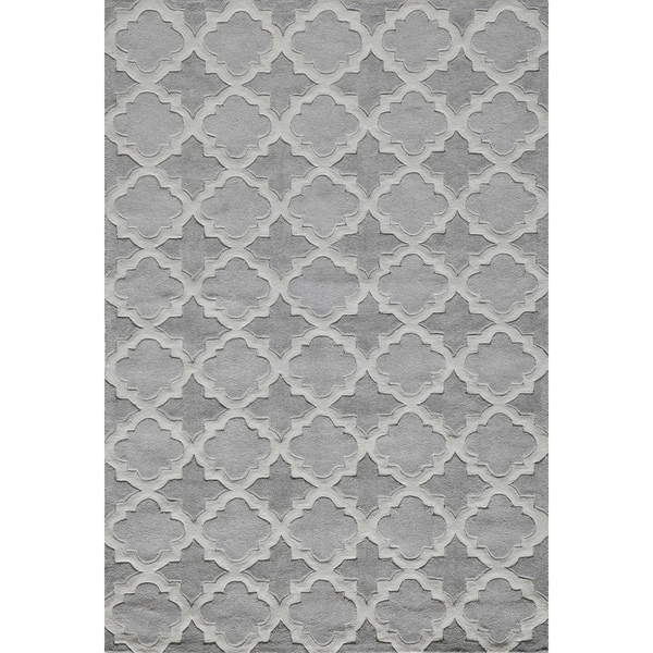 Momeni Bliss Grey Paloma Trellis Hand-Tufted Rug (5' X75'6)