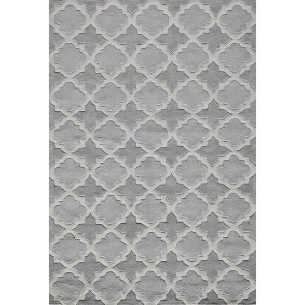 Momeni Bliss Grey Paloma Trellis Hand-Tufted Rug (5' X75'6)