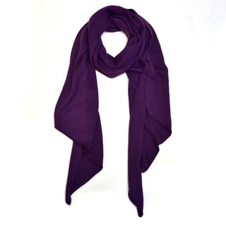 Soft Piece-Dyed Acrylic Scarf with Triangular Ends
