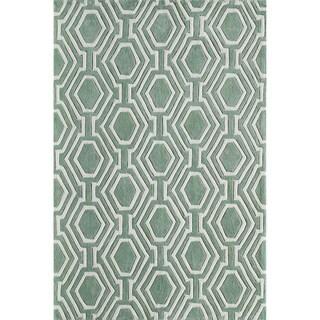 Momeni Bliss Grey Labyrinth Hand-Tufted Rug (3'6 X 5'6)